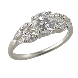Sterling Silver 2.71 cttw Cubic Zirconia Fashion Ring