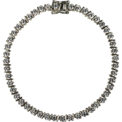 "Sterling Silver Cubic Zirconia 7.5"" Classic Bar Tennis Bracelet"