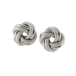 Sterling Silver Love Knot Pierced Earrings