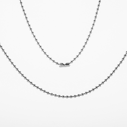 "Stainless Steel 18"" Bead Pendant Chain"