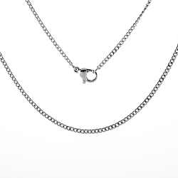 "Stainless Steel 18"" Cable Pendant Chain"