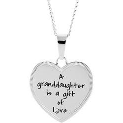 Stainless Steel Granddaughter Love Pendant Engravable