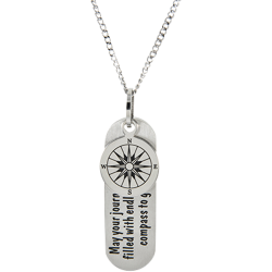 Stainless Steel Journey Pendant Engravable