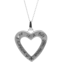 Stainless Steel Mother's Love Pendant Engravable