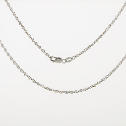 "Sterling Silver 18"" Rope Chain with Lobster Clasp"