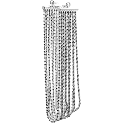 "Sterling Silver 7.5"" 10 Strand Bead and Rope Chain Bracelet"