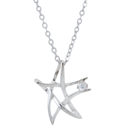Sterling Silver Lucky Star Pendant