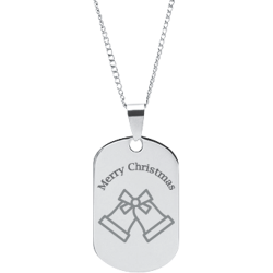 Stainless Steel Personalized Engraved Christmas Bells Pendant