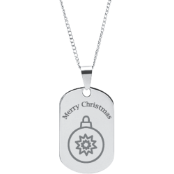 Stainless Steel Personalized Engraved Christmas Ornament Pendant