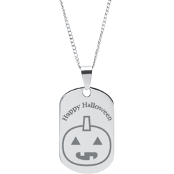 Stainless Steel Personalized Engraved Halloween Pumpkin Pendant