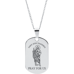 Stainless Steel Personalized Engraved St. Jude Thaddeus Pendant