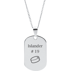 Stainless Steel Personalized Engraved Hockey Puck Sports Pendant with Chain