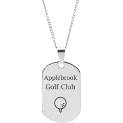 Stainless Steel Personalized Engraved Golf Ball Sports Pendant