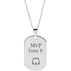 Stainless Steel Personalized Engraved Basketball Shorts Sports Pendant with Chain