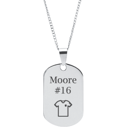 Stainless Steel Personalized Engraved Soccer Jersey Sports Pendant with Chain