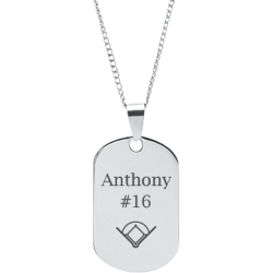 Stainless Steel Personalized Engraved Baseball Field Sports Pendant with Chain