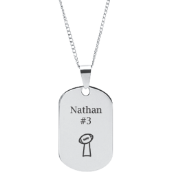 Stainless Steel Personalized Engraved Football Trophy Sports Pendant