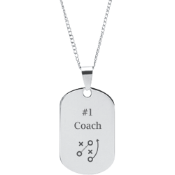 Stainless Steel Personalized Engraved Football Play Sports Pendant
