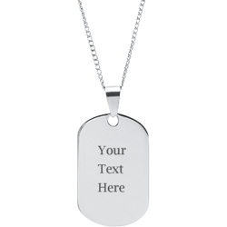 Stainless Steel Personalized Engraved Dog Tag Pendant