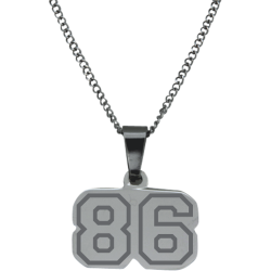 Stainless Steel Personalized Sports Number Pendant