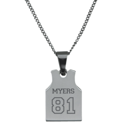 Stainless Steel Personalized  Engraved Basketball Jersey Pendant