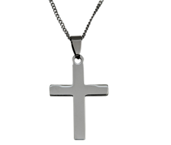 Stainless Steel Engravable Cross Pendant on Chain