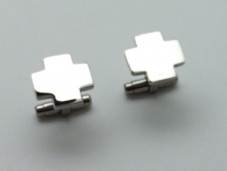 Stainless Steel Engravable Cross Cufflinks