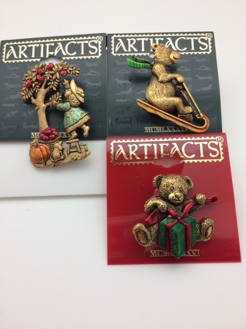 Set of 3 Holiday and Harvest Pins